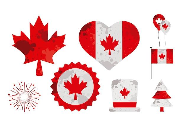 Acht kanada-tage-symbole