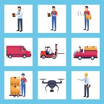 Acht logistikmitarbeiter