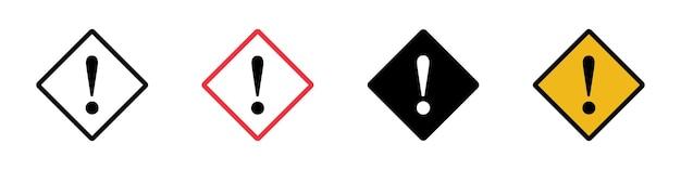 Achtung zeichen icon set einfaches design
