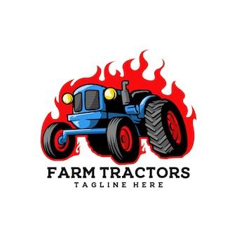 Ackerschlepper ackerlandwirtschaft natur landwirtschaft Premium Vektoren
