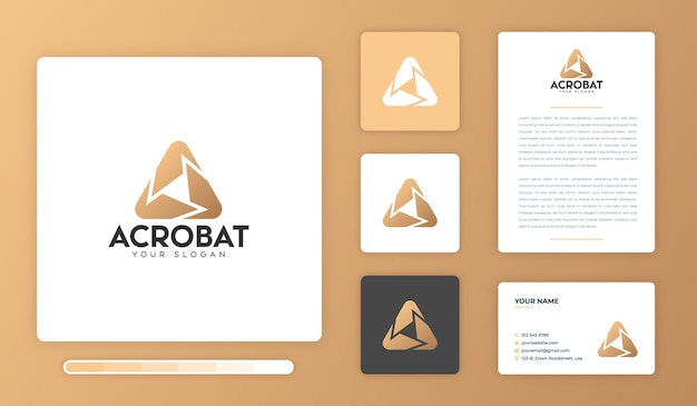 Acrobat logo design vorlage