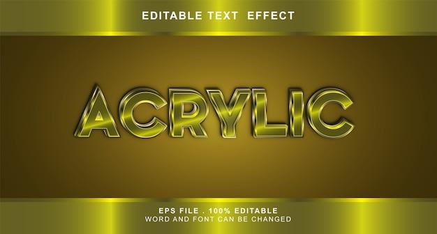 Acryl neon text effekt bearbeitbar