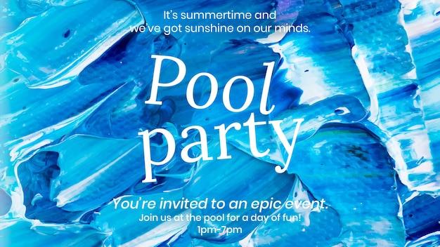 Acrylfarbe party vorlage vektor blaue abstrakte kreative kunst banner