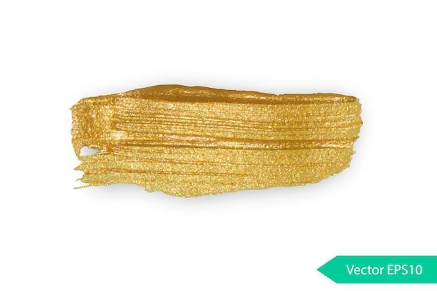 Acrylfarbe textur stane dub gold acryl pinselstrich isolierte grunge form goldene ölspritzer