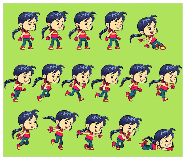 Action girl spiel sprites