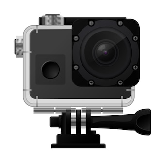 Action-kamera in wasserdichter box - sport-cam-symbol