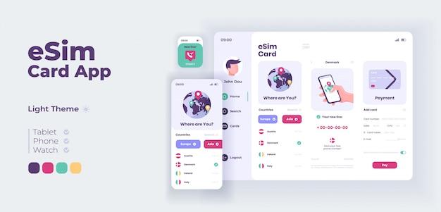 Adaptive designvorlage für den schlaf-sound-app-bildschirm