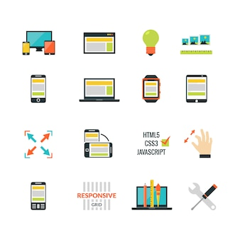 Adaptives responsive webdesign