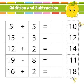 Addition und subtraktion.