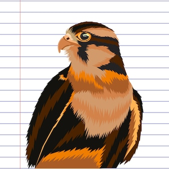Adler abbildung pop-art-vektor