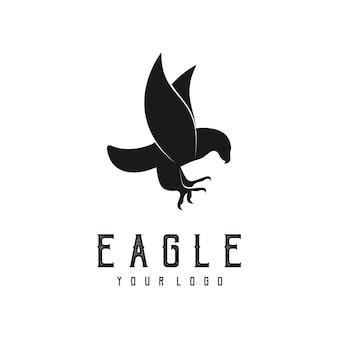 Adler abstrakte logo-design-silhouette
