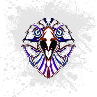 Adler aus abstrakten dekorativen muster