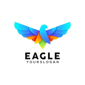 Adler bunte logo-design-vorlage