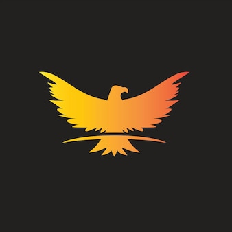 Adler-flügel-logo-tier-vogel-vektor