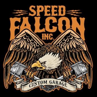 Adler halten kolbenmotorrad