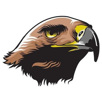 Adler-kopf-maskottchen-logo