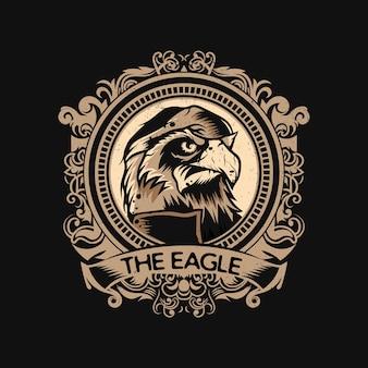 Adler-logo mit vintage-stil