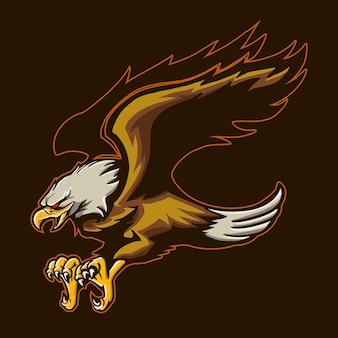 Adler lokalisiert auf dunklem hintergrund