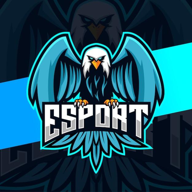 Adler maskottchen esport logo design