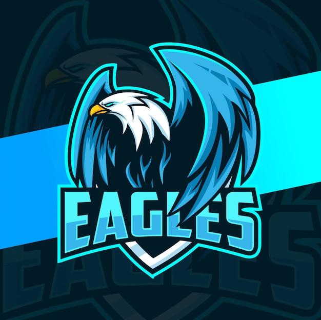 Adler maskottchen esport-logo