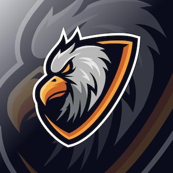 Adler-maskottchen-esport-logo