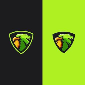 Adler maskottchen gaming-logo