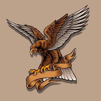 Adler maskottchen illustration