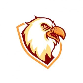 Adler-maskottchen-logo