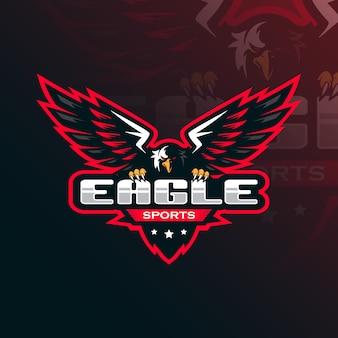 Adler maskottchen logo