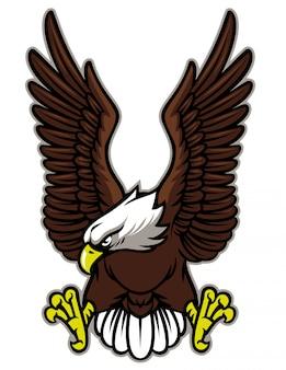Adler mit ausgebreitetem flügel