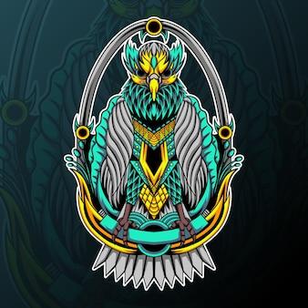 Adler mit zentangle-ornament-illustration