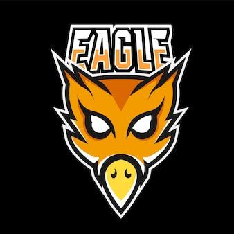 Adler-sport- und esport-gaming-maskottchen-logo