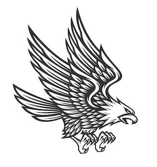 Adler symbol illustration design auf weißem hintergrund