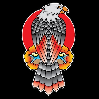 Adler traditionelles tattoo flash