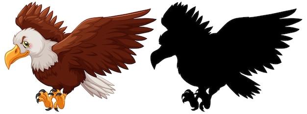 Adler und seine silhouette