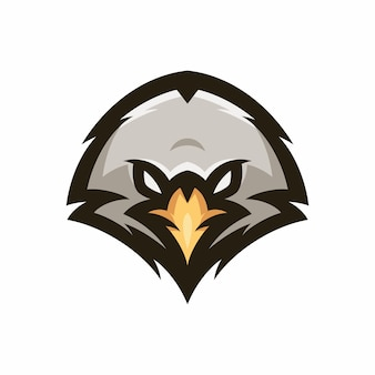 Adler - vektorlogo / ikonenillustrationsmaskottchen