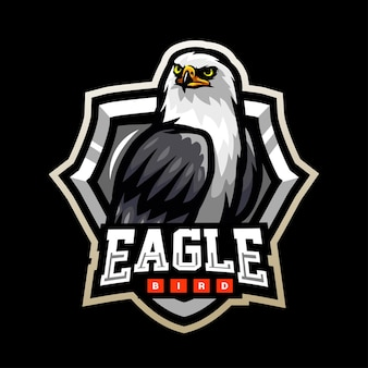 Adler-vogel-maskottchen-esport-logo-design