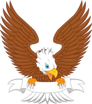 Adlerkarikatur mit unbelegtem zeichen