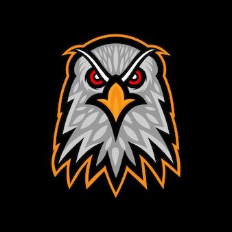 Adlerkopf logo maskottchen