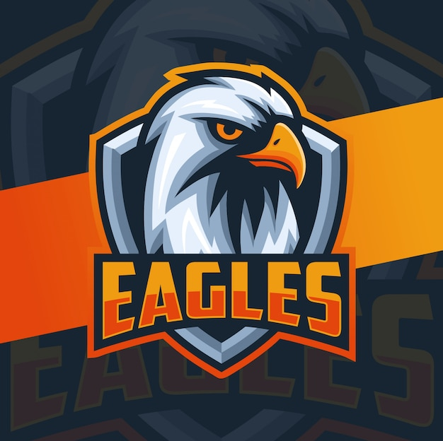 Adlerkopf maskottchen esport logo design