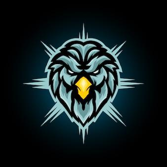 Adlerkopf maskottchen logo