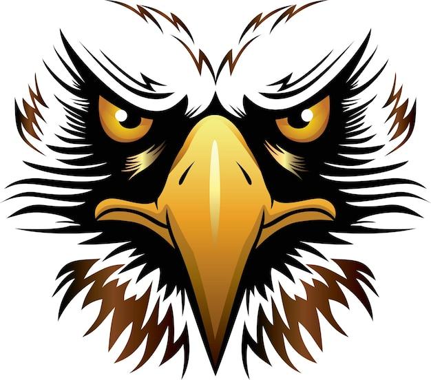 Adlerkopf-vektorillustration kann für maskottchen-logo-kleidung und mehr verwendet werden