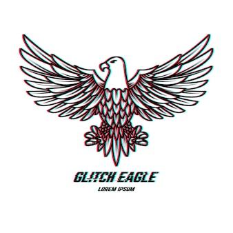 Adlerzeichen mit glitch-effekt.