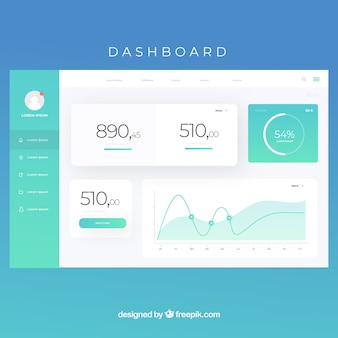 Admin-dashboard-panel mit verlaufsstil