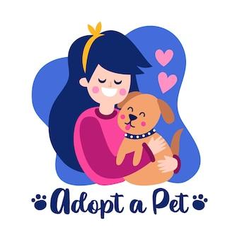 Adoptiere aus dem tierheim und gib dem haustier ein zuhause
