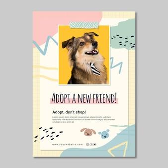 Adoptiere ein neues freundplakat