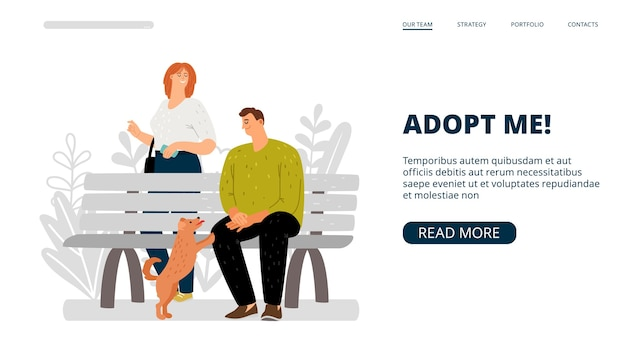 Adoptiere mich landing page.