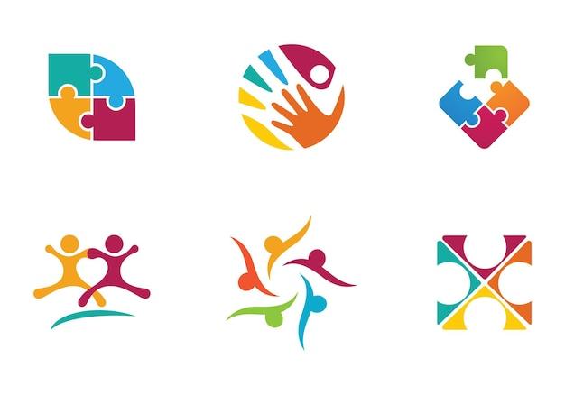 Adoption und gemeinschaftspflege logo-vorlagen-vektor-symbol