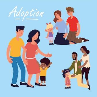 Adoption verschiedener familien