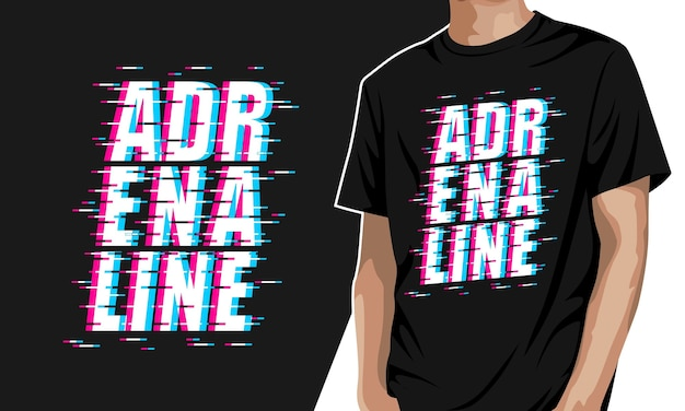 Adrenalin - grafisches t-shirt